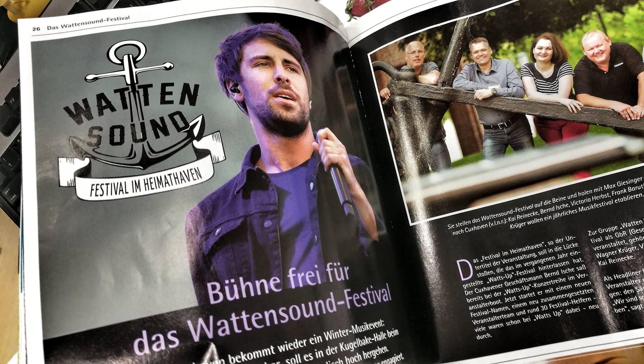 Max Giesinger und das WATTENSOUND im CUXJournal